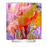 Canna Abstract 3 Shower Curtain