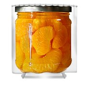 Canned Mandarin Oranges In Glass Jar Shower Curtain