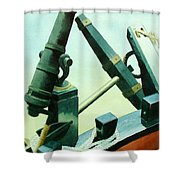 Cannon And Anchor Shower Curtain