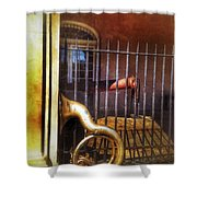 Cannon And Tuba Shower Curtain