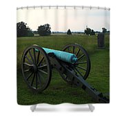 Cannon At Gettysburg 2 Shower Curtain