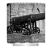 Cannon At Macroom Castle Ireland Shower Curtain