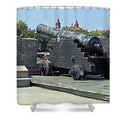 Cannon At The Castillo Shower Curtain