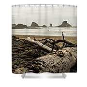 Cannon Beach 2 Shower Curtain
