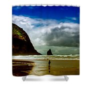 Cannon Beach At Dusk IIi Shower Curtain