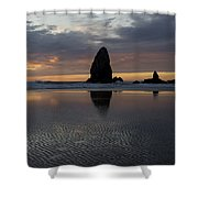 Cannon Beach At Sunset 7 Shower Curtain
