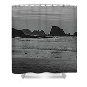 Cannon Beach Bw Shower Curtain