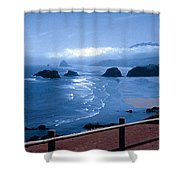 Blue Waters On Cannon Beach Shower Curtain