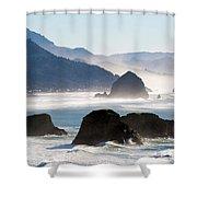 Cannon Beach On The Oregon Coast Shower Curtain