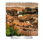 Cannon Beach, Oregon 3 Shower Curtain by Shiela Kowing