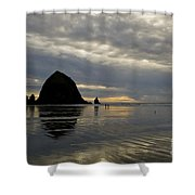 Cannon Beach Reflections Shower Curtain