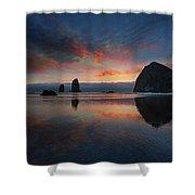 Cannon Beach Sunset Shower Curtain