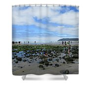 Cannon Beach Tide Pools Shower Curtain