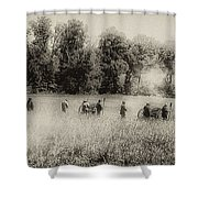 Cannon Fire At Gettysburg  Shower Curtain