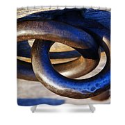 Cannon Rings Shower Curtain