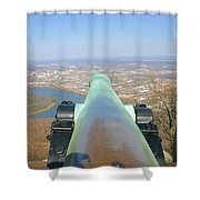 Cannon Sighting Shower Curtain