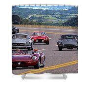 Cannonball Rally Shower Curtain