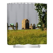 Cannons Behind Hancock Avenue Shower Curtain