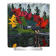 Canoe Lake Chairs Shower Curtain by Phil Chadwick