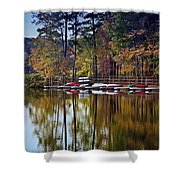 Canoe Lake Shower Curtain
