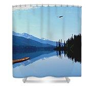 Canoe Lake Shower Curtain