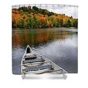 Canoe On A Lake Shower Curtain