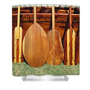 Canoe Paddles Shower Curtain
