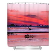 Canoeing On Color Shower Curtain