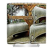 Canoes At Canaveral National Seashore Shower Curtain