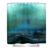 Canoes At Nightfall Shower Curtain