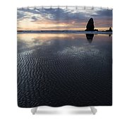 Canon Beach At Sunset 6 Shower Curtain