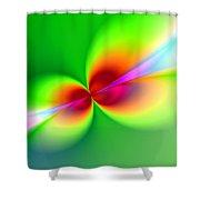 Canoodeling Neon Nodes Fractal Shower Curtain