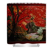 Canopy Of Red Shower Curtain