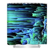 Can't Take The Sky From Me - Pixel Art Shower Curtain
