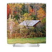 Cantilever Barn - Autumn Shower Curtain