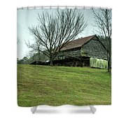 Cantilever Barn Sevier County Tennessee Shower Curtain