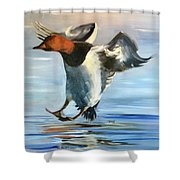 Canvas Back Smooth Landing Shower Curtain