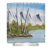 Winter Season - Mountains Shower Curtain
