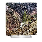 Canyon And Lower Falls Shower Curtain