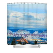 Canyon Beginnings Shower Curtain