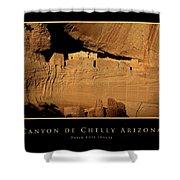 Canyon De Chelly Arizona Black Border Shower Curtain