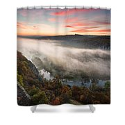 Canyon Of Mists Shower Curtain by Evgeni Dinev