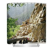 Canyon Rocks Horizontal Shower Curtain