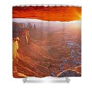 Canyonlands Cavern At Sunset Shower Curtain