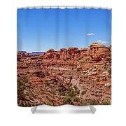Canyonlands National Park - Big Spring Canyon Overlook Shower Curtain
