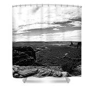 Canyonlands National Park Utah Pan 06 Bw Shower Curtain