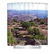 Canyonlands Park Utah Blue To Green Vista Shower Curtain