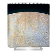 Canyons Around Plutos North Pole Shower Curtain