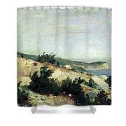 Cape Ai-todor Crimea 1879 21h33 5 Ivan Ivanovich Shishkin Shower Curtain