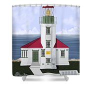 Cape Arago Oregon Shower Curtain